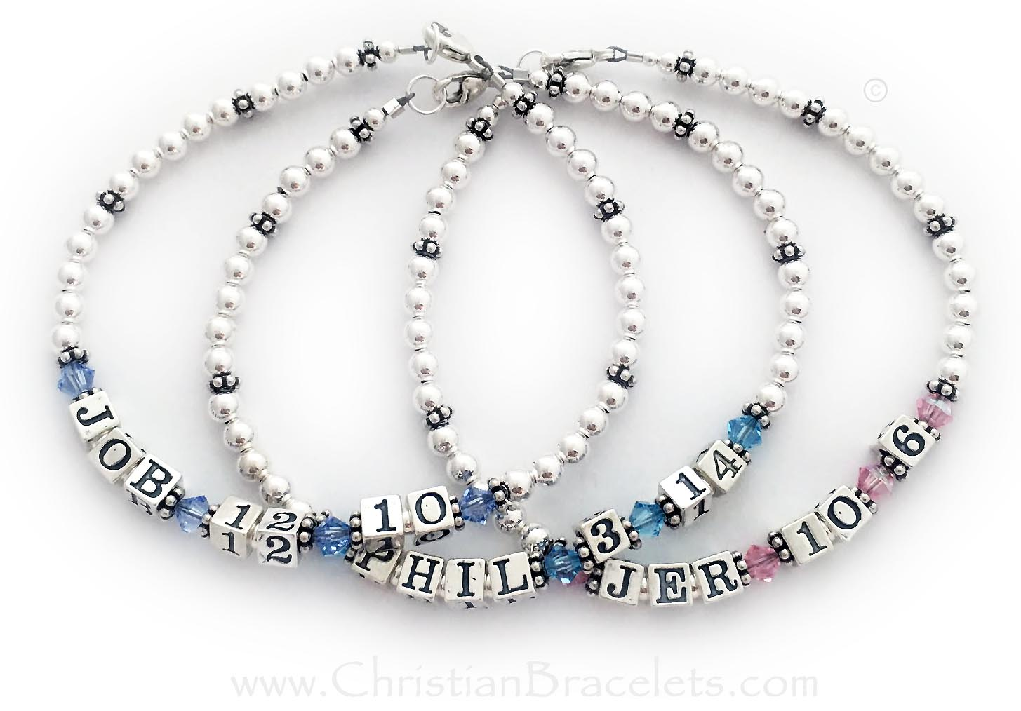 JOB 12:10 - Philippians 3:14 and Jeremiah 10:6 Bible Verse Bracelets
