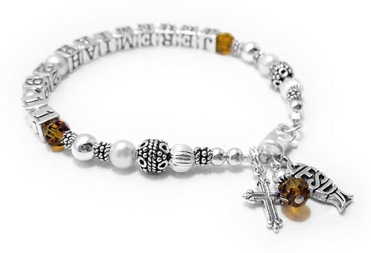 Jeremiah 29 11 - Jeremiah Bible Verse Bracelets with Green Crystals