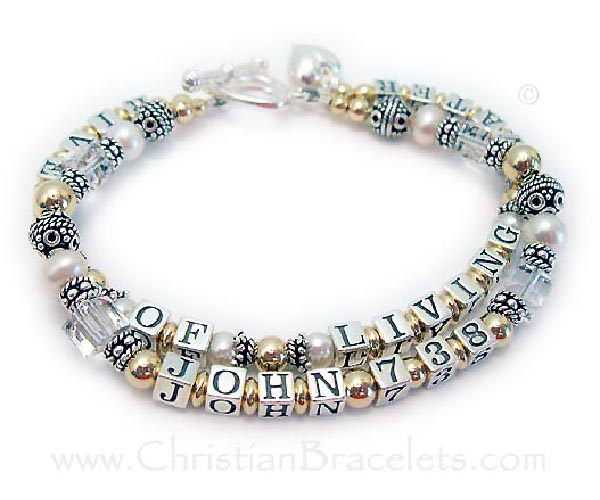 Rivers of Living Water Bracelet with John 7:38