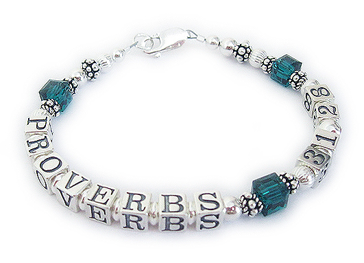 EPHESIANS 3:14 Bible Verse Jewelry with May Birthstone Crystals