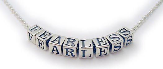 Message Necklace - FEARLESS