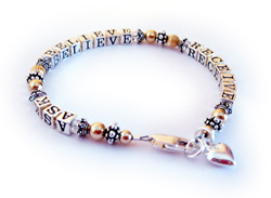 ASK BELIEVE and RECEIVE Bracelet (message bracelets)