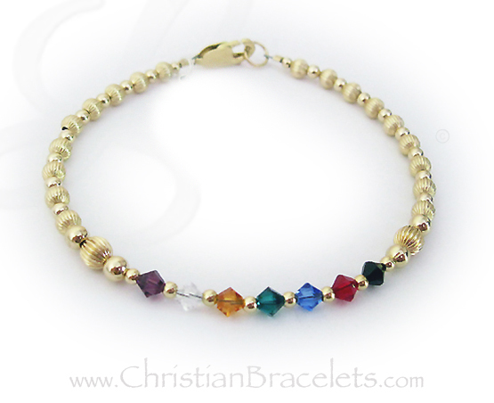 Gold Salvation Bracelet with cross charm
