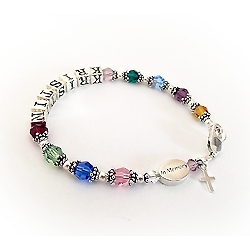 Loving Memory Bracelet with a Cross Charm