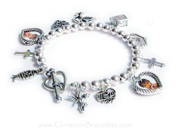 This Design Your Own Charm Bracelet Is Shown With 11 Charms And A Heavy Heart Toggle