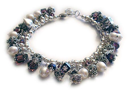 Crystal and Charm Bracelet