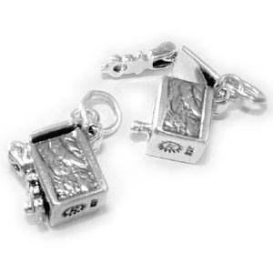 Sterling Silver Prayer Box Charm
