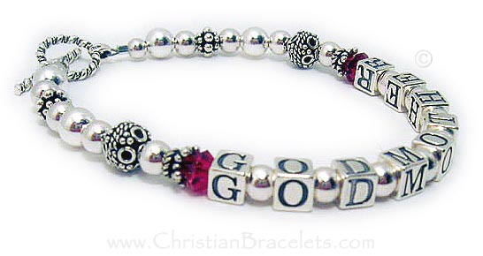 christian personalized stamped silver route thankyougodmotherbracelet thank for hand you bracelet being my godmother