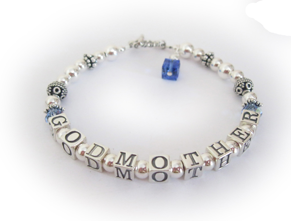 GodMother Bracelet with December and Septmeber Birthstone Crystals