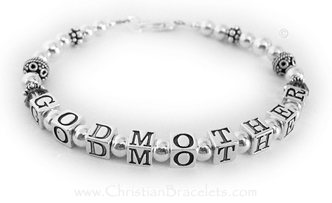 This Godmother bracelet is shown with the optional Grey crystals before and after Godmother. They picked one of my free Lobster Claw clasps.