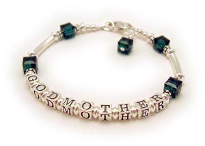 Personalized GodMother Bracelet in Sterling Silver