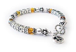 Love Joy Hope Bracelet with Peace Charm