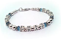 Eat Pray Love Bracelet with Swaroski Crystals