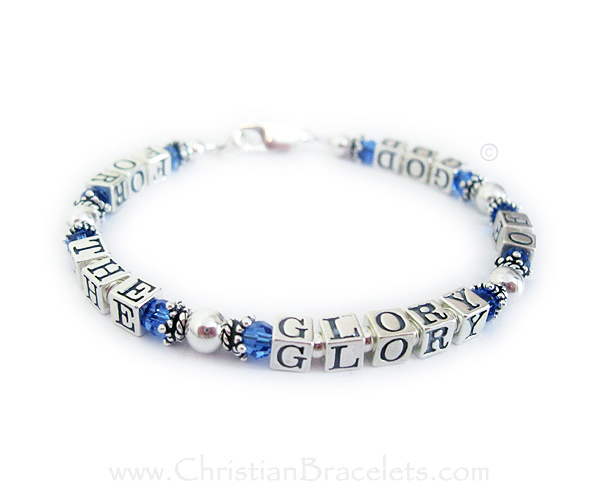For the Glory of God Bracelet with september Birthstone crystals