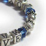 September Peace Love Joy with Blue Crystals