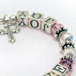 October Peace Love Joy Bracelet (pink)