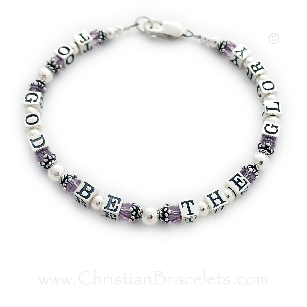 To God Be The Glory June Birthstone Bracelet
