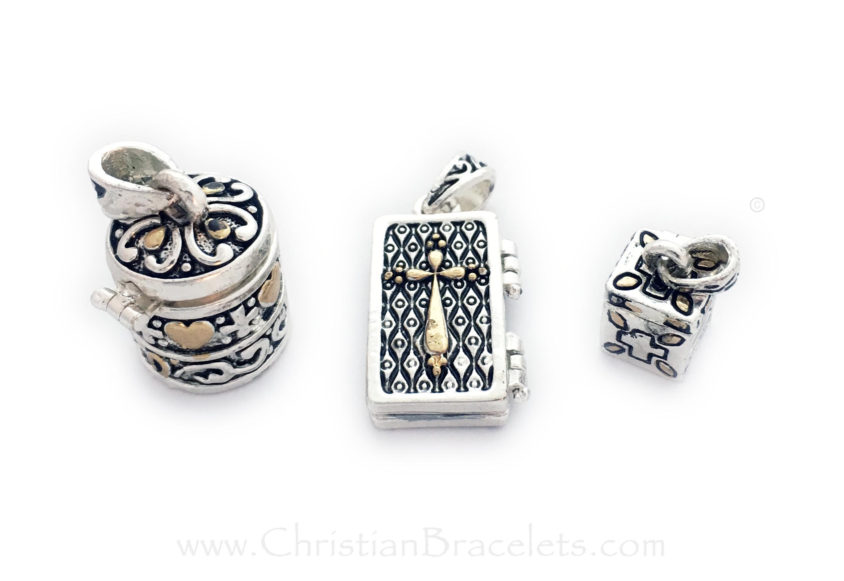 CB-Prayer Box Charms Prayer Box Charms - Round, Rectangle and Square shown Sold Individually