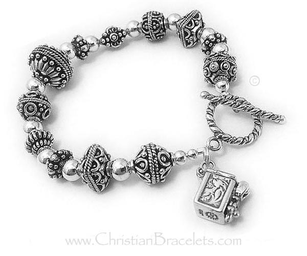 Blessing Box Bracelet with a Prayer Box with a Twist Toggle Clasp