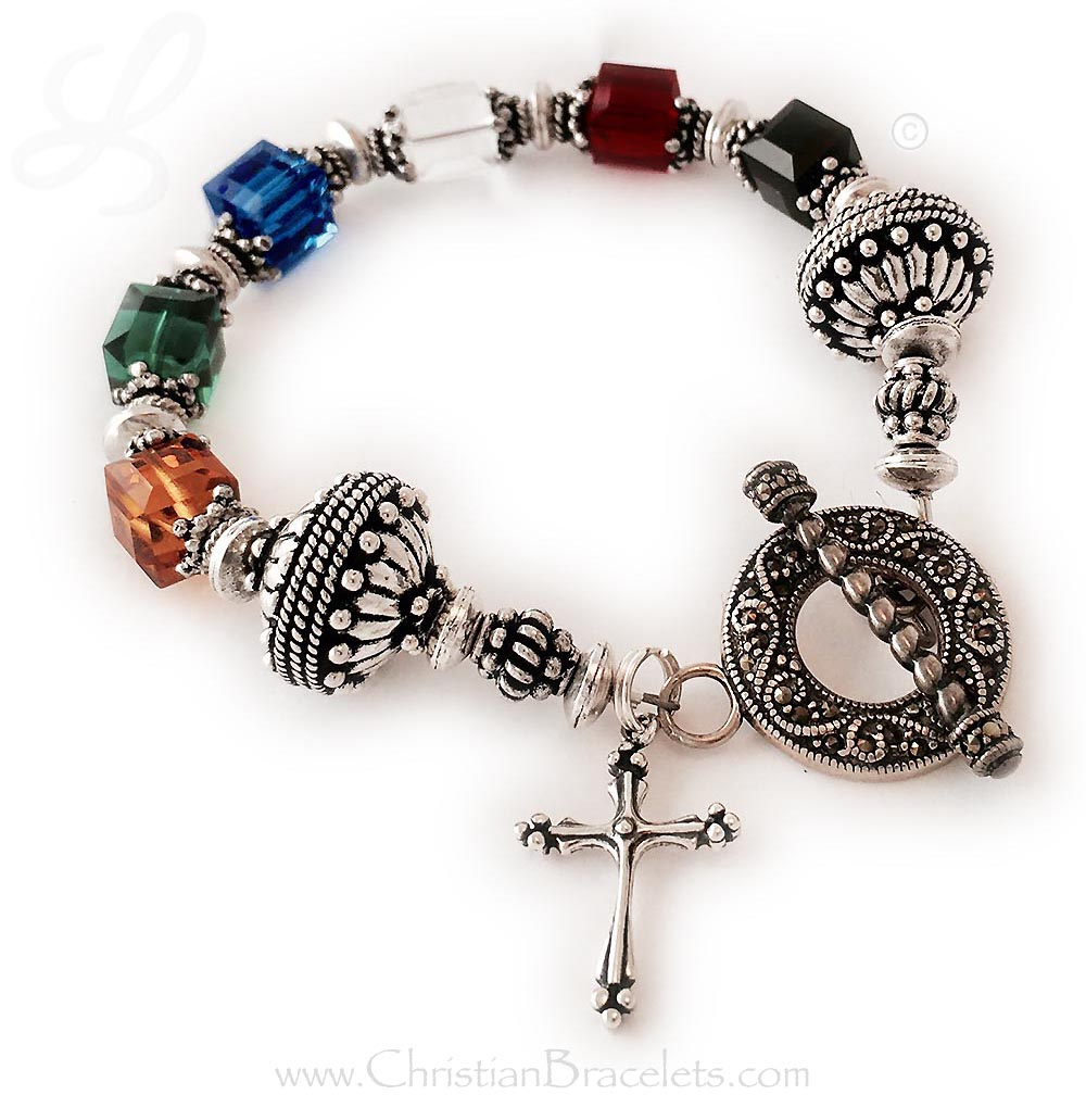The clasp on this Salvation Bracelett #2 is no longer available but I have 10 other options! It is shown with an add on Large Fancy Cross.