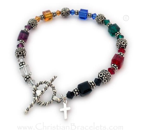 Faith or Salvation Bracelet with a Tiny Cross Charm