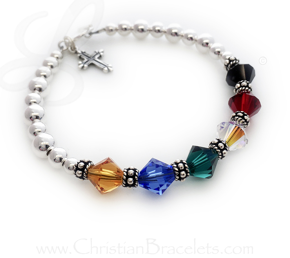 "This is a 7"" Salvation Bracelet with aa Fancy Cross Charm on a Toggle Clasp."