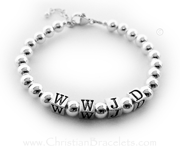 WWJD Sterling Silver What Would Jesus Do Bracelet Designs