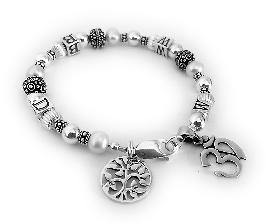 What Would Buddah Do? They switched the WWJD to WWBD. They add 2 charms: Tree of Life Charm and an OM charm.