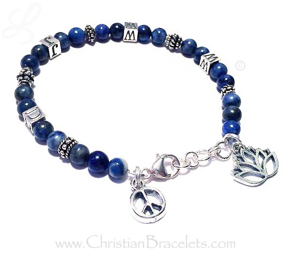 Bali and Sterling Silver WWJD Bracelet
