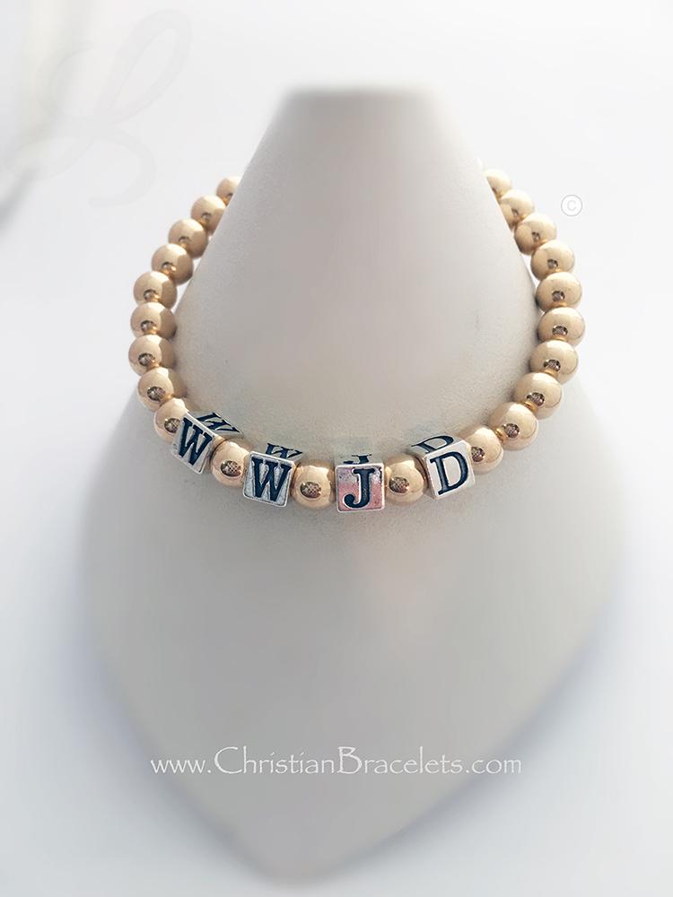 Gold WWJD-9G Bracelet