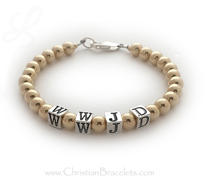 Gold What Would Jesus Do Bracelet CB-WWJD-9G