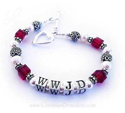 Red What Would Jesus Do Bracelet