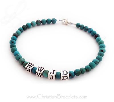WWJD Turquoise Bracelet