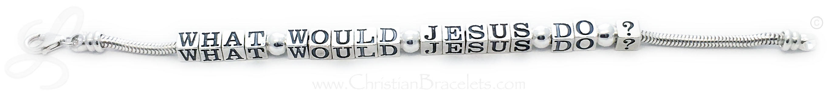 What Would Jesus Do? Bracelet Sterling Silver Pandora WWJD Bracelets