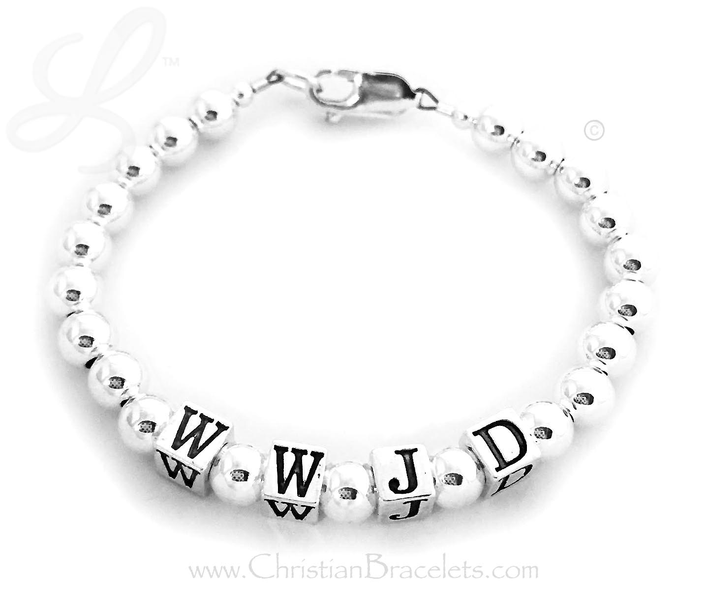 CB-WWJD-9 What Would Jesus Do bracelet - WWJDSize: 6""